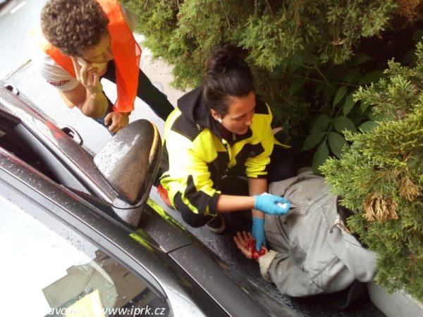 Dopravní nehoda na kurzu IPRK Zdravotník - ilustrační foto