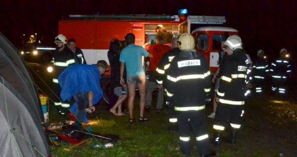 Zásah hasičů na letním táboře