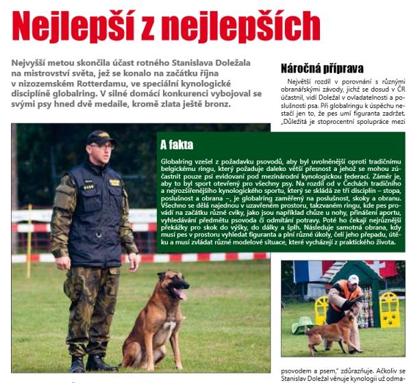 Článek z Mistrovství světa Globalring - Stanislav Doležal